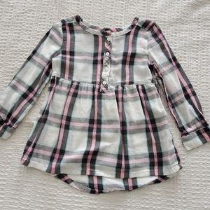 4T, toddler long sleeve plaid shirt